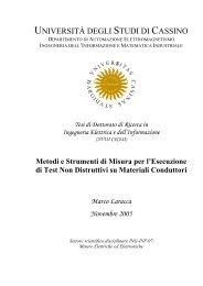 Metodi e strumenti di misura per l'esecuzione di test non distruttivi ...