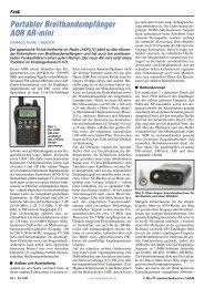 Portabler Breitbandempfänger AOR AR-mini