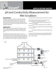 pH and Conductivity Measurement for Wet Scrubbers - Sensorex