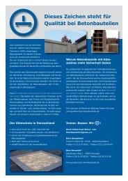Infoblatt (.pdf ca. 4 MB) - Bund Güteschutz Beton