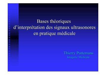 Bases théoriques d'interprétation des signaux ultrasonores en ...