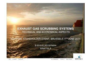 Exhaust gas scrubbing systems - Wärtsilä