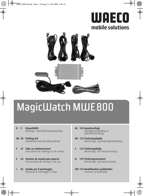 MagicWatch MWE800 - Waeco