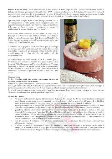 A colazione tra Birre e abbinamenti culinari - cipas.info