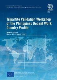 Tripartite Validation Workshop of the Philippines Decent Work ...