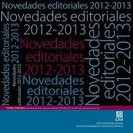 Novedades editoriales 2012-2013