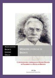 Memorie storiche di Bronte - Bronte Insieme