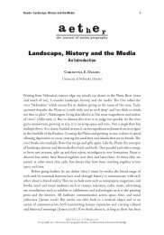 Landscape, History and the Media - California Geographical Survey ...