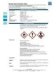 MATERIAL SAFETY DATA SHEET –MSDS - Weg