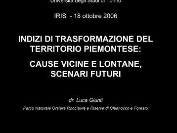 lezione 3 GIUNTI - IRIS - Istituto di Ricerche Interdisciplinari sulla ...