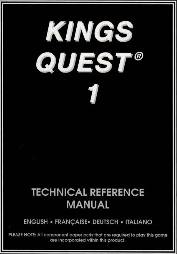 1(ings Qjlest - Museum of Computer Adventure Game History