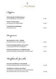 Suppen Vorspeisen Westfälische Gerichte - Klosterschaenke Karthaus