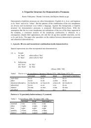 A Tripartite Structure for Demonstrative Pronouns