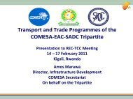 Transport and Trade Programmes of the COMESA-EAC ... - MCLI