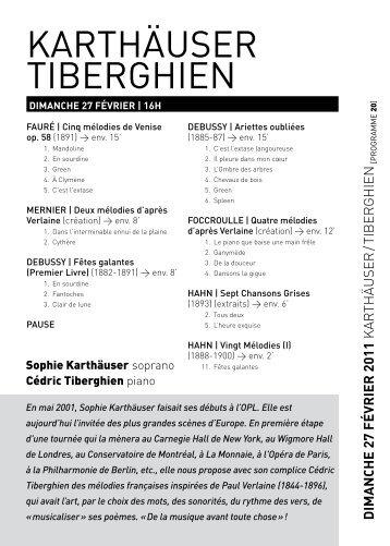 karthäuser tiberghien - Orchestre Philharmonique Royal de Liège