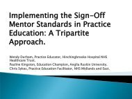 Implementing the Sign-Off Mentor Standards in Practice ... - RCN
