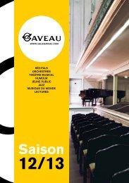 Téléchargez le programme de la saison 2012-2013 - Salle Gaveau
