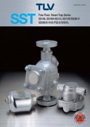SST Free Float Steam Trap Series SS1NL·SS1NH·SS1VL ... - TLV