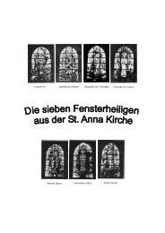 Die Kirchenfenster von St. Anna