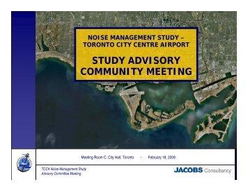 STUDY ADVISORY COMMUNITY MEETING - Toronto Port Authority