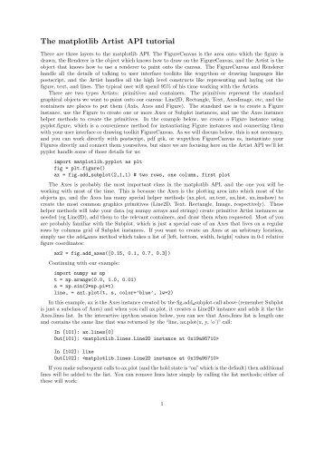 The matplotlib Artist API tutorial