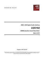 EDEL USB Digital Audio Interface U2S192 OEM ... - ABC PCB
