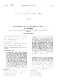 Direttiva 2009/138/CE del Parlamento europeo e del ... - EUR-Lex