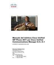 Manuale del telefono Cisco Unified SIP Phone 3911 per Cisco ...