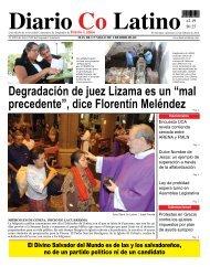 "Degradación de juez Lizama es un ""mal ... - Diario Colatino"