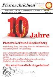 Pfarrnachrichten - St. Aegidius Wiedenbrück