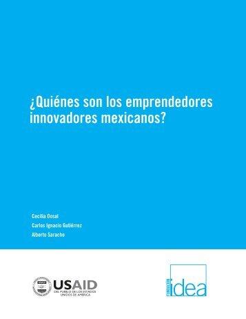 ¿Quiénes son los emprendedores innovadores mexicanos?