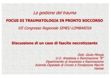 Sepsi - Ospedale di Circolo e Fondazione Macchi