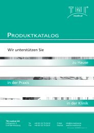 PRODUkTkATAlOG - TNI medical AG