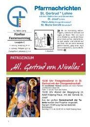 Pfarrnachrichten vom 17.März 2013 - Katholische Kirchengemeinde ...