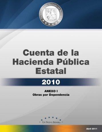 Anexo I.- Obras por Dependencia - H. Congreso del Estado de Sonora