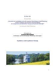 Potenziale einer nachhaltigen und selbst tragenden Entwicklung der ...