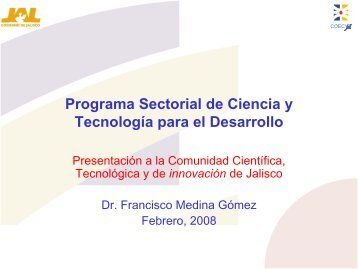 Programa Sectorial de Ciencia y Tecnología para el Desarrollo