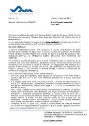 Contribuzione ENBASS - SNA PADOVA