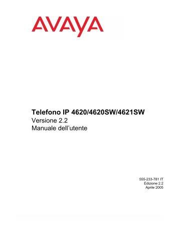Telefono IP 4620/4620SW/4621SW - Saint Peters University