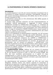 LA PIASTRINOPENIA IN TERAPIA INTENSIVA NEONATALE ...