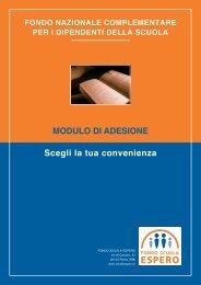 Modulo adesione fondo espero - UGL Scuola