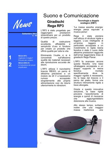 Settembre 2011, news n. 16 - Suono e Comunicazione