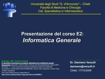 Elaborazione testi – parte 1 - Università Gabriele d'Annunzio