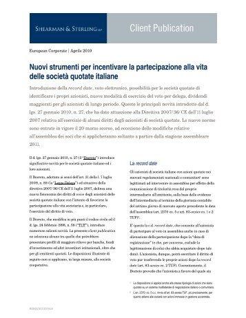Nuovi strumenti per incentivare la partecipazione alla vita delle ...