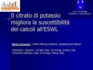Il citrato di potassio migliora la suscettibilità dei calcoli all'ESWL - Auro