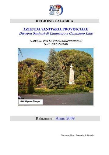 26 - Ser.T di Catanzaro - Relazione Anno 2009 - digitalbay