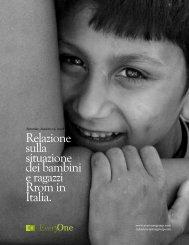 Relazione sulla situazione dei bambini e ragazzi ... - EveryOne Group