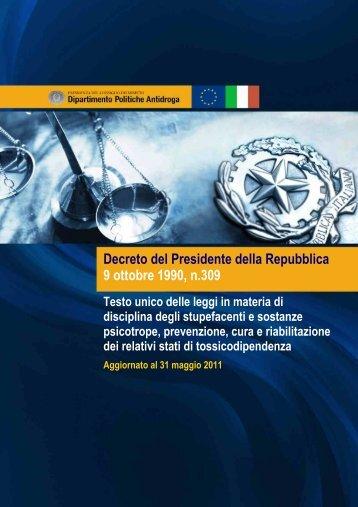 Decreto del Presidente della Repubblica 9 ottobre 1990, n.309