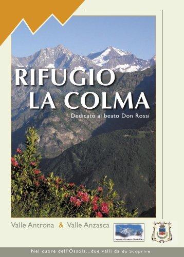 RIFUGIO LA COLMA - cai sezione villadossola