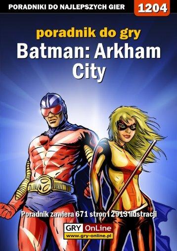 Poradnik GRY-OnLine do gry Batman: Arkham City - Gandalf
